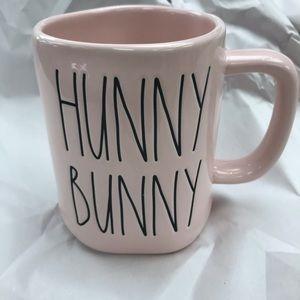 Rae Dunn pink hunny bunny mug